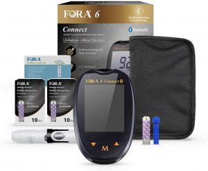 FORA 6 Connect Blood Glucose Testing Meter Kit