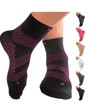 TechWare Pro Ankle Compression Socks-Plantar Fasciitis Socks